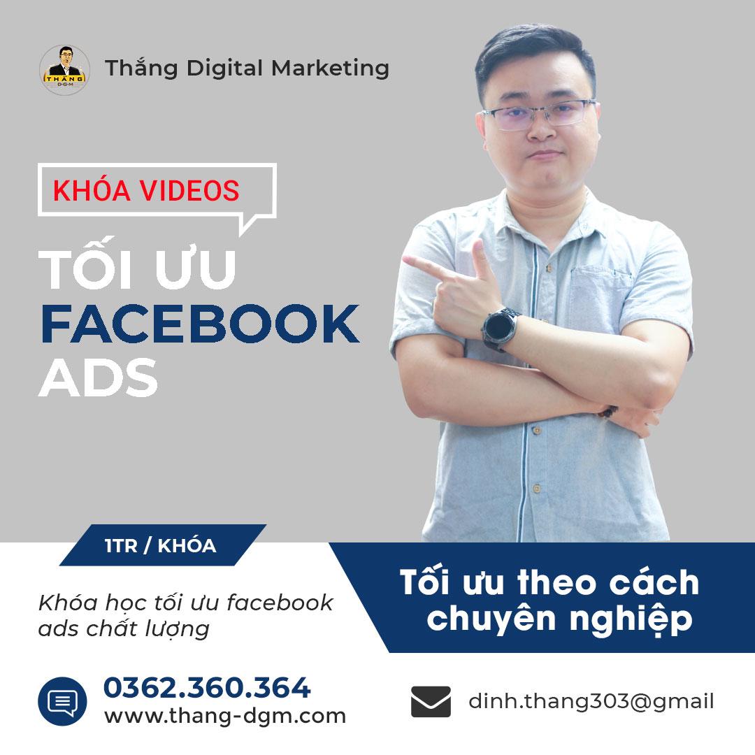 khóa học tối ưu quảng cáo facebook ads