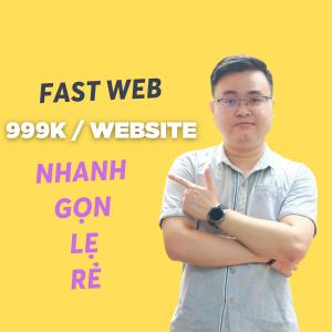 fast web - website bán hàng nhanh gọn nhẹ rẻ